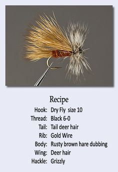 fly tying recipes.