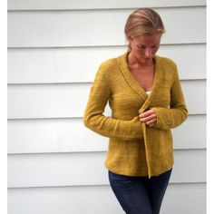 """A swingy, draped A-line cardigan that moves with you—easy to knit and easy to wear, Olive Basket will be your new go-to sweater.31 ½ (36, 39 ½, 44, 47 ½, 52, 55 ½)"""" bust circumference. Pullover shown measures 31 ½"""", modeled with little to no ease. Sweater is intended to fit with 0″ to 3"""" positive ease.Malabrigo Silky Merino (50% silk, 50% baby merino; 150yds / 50 g): #076 manzanilla olive, 8 (8, 9, 10, 11, 12, 13) skeins.Construction notes: The sweater is worked from the bottom up--one…"""