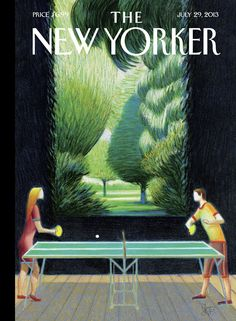 """The New Yorker - Monday, July 29, 2013 - Issue # 4506 - Vol. 89 - N° 22 - Cover """"Inside, Outside"""" by Lorenzo Mattotti"""