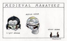 Happy Monday Man vs. Manatee! Here's the new comic by Rachel Arnow (:3)