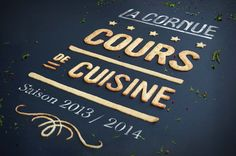 Agence Cécile Halley des Fontaines - Global design agency - La Cornue - high luxury cookers - biscuits type - yummy typography - invitation