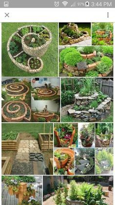 Backyard Garden Landscape Fairy Garden in one of the fun ways of decorating gardens by using broken pots, wood pieces, planters soil and other wrecked items. It creates a miniature fantasy garden with the help of unusable items. Herb Spiral, Spiral Garden, Simple Garden Designs, Low Maintenance Garden Design, Fairy Garden Houses, Fairies Garden, Fairy Gardening, Gardening Quotes, Gardening Books