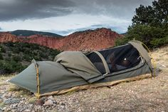 Perfect for spur-of-the-moment adventures, the Kodiak Canvas Swag Tent is compact camping you can count on! An evolution of the traditional bedroll, this single person, portable Utah Camping, Camping Gear, Camping Hacks, Outdoor Camping, Outdoor Gear, Camping Storage, Camping Hammock, Camping Stuff, Stealth Camping