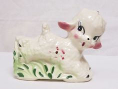 Antique Baby Lamb Nursery Planter by TheRetroRemedy on Etsy, $14.00