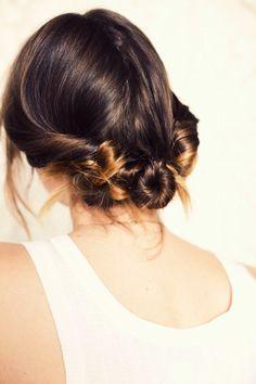 Three Twisted Buns Hair | Tutorial:  http://joannagoddard.blogspot.com/2011/03/three-twisted-buns.html