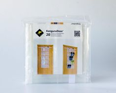 Blister Friendly Over Door Storage Organizer PEVA transparente KanguruDoor