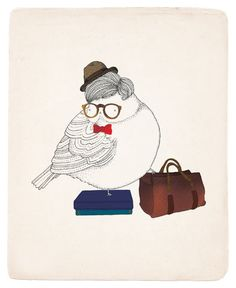 Those glasses, bow tie and bag...reminds me of someone!