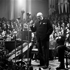 Leeds, England, Winston Churchill, Conservative politician and British Prime Minister between the years and is pictured making a speech Winston Churchill, Churchill Quotes, Uk History, British History, Julius Caesar, Michael Jackson, British Prime Ministers, Historical Quotes, Great Leaders