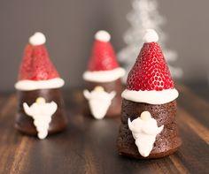 Mini Santa Cakes   Rich chocolate and ginger marmalade cake Santas