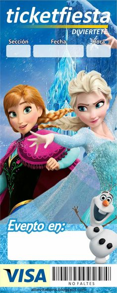Invitación Ticketmaster de Frozen                              …