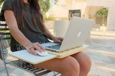 Portable modern desk laptop table Eco Friendly Bamboo par rldh