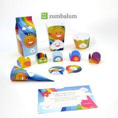 kit festa infantil arco iris