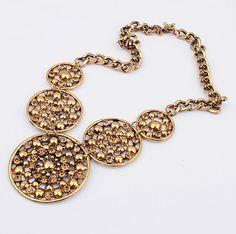Stunning Circles Vintage Statement Necklace  LilyFair Jewelry.