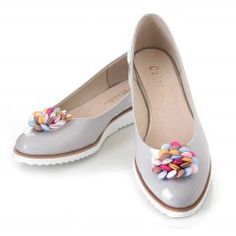 CALZADO WŁOSKA SKÓRA BALERINKI OZDOBA SZARE Salvatore Ferragamo, Flats, Shoes, Fashion, Over Knee Socks, Loafers & Slip Ons, Zapatos, Moda, Shoes Outlet