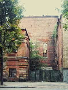 Old brick buildings