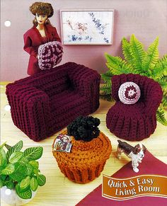 Quick and Easy Living Room Crochet Barbie by grammysyarngarden