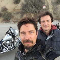 On the road 'FridayNightRides' with Nathan Fillion and Michael Trucco - Oct 14, 2016