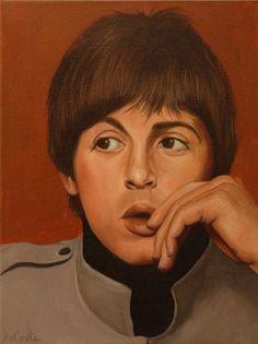 John Lennon, Paul McCartney, George Harrison and Ringo Starr - 4 Painting Set