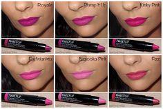 Les 24 nuances de TwistUp Annabelle! (Swatches) Lip Makeup, Swatch, Lipstick, Shades, Makeup, Makeup Lips, Lipsticks