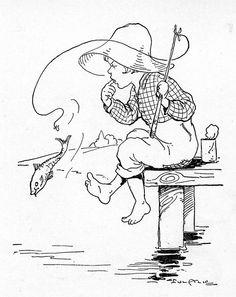 Fishing woes -  little girl on dock