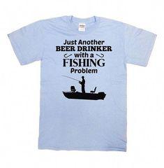 Funny Fishing Shirt Beer T Shirt Drinking Gifts For Fishermen Gifts For Dad Shirt Grandpa T Shirt Beer Lover Beer Drinker Mens Tee -