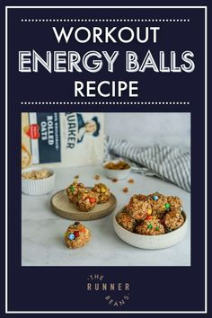 These workout energy balls are full of protein and fiber to keep you full between meals and also give you a pre or post-workout boost. These are one of the best snacks to have on hand for easy, healthy snacking anytime of the day. Takes you just 10 minutes to whip up a batch of these workout energy balls and snack healthy all week long! Healthy Food Habits, Healthy Living Recipes, Good Healthy Snacks, Healthy Diet Recipes, Healthy Recipes For Weight Loss, Healthy Breakfast Recipes, Snack Recipes, Runner Diet, Energy Balls