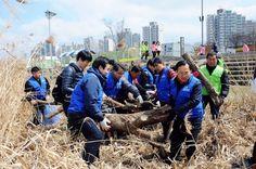 송파 하나님의교회(안상홍님),유월절맞이 지구환경정화운동  유월절 지키는 하나님의교회(안상홍님) 광나루 한강시민공원 환경정화활동
