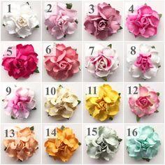 "KVW Paper Flowers - 1.5"""