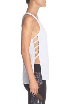 Free shipping and returns on Beyond Yoga Cutout Sides Racerback Tank at Nordstrom.com. A supersoft, lightweight workout tank gets a stylish update with strappy caged sides that show off your sports bra underneath and a skinny racerback that allows for maximum range of motion.