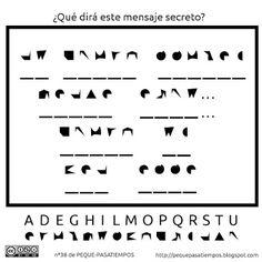 Peque-pasatiempos: Mensaje secreto - PEQUE-PASATIEMPOS nº38