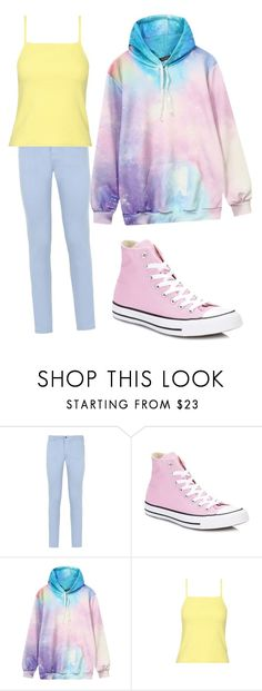 """Keith Pastel 1"" by jaqueline-grace on Polyvore featuring Armani Jeans, Converse and Giallo"