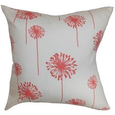 @Overstock - Dandelion Floral White Coral Feather Filled 18-inch Throw Pillow - Removable cover: YesCover closure: Hidden zipperEdging: Knife  http://www.overstock.com/Home-Garden/Dandelion-Floral-White-Coral-Feather-Filled-18-inch-Throw-Pillow/9095383/product.html?CID=214117 $44.99