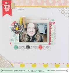 Janna Werner: Scrapbooking about yourself - 'all about me` for Two Peas in a Bucket