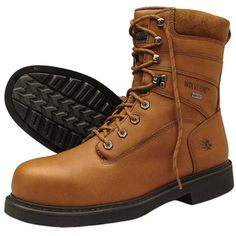 """#Men's #Work #Safety #Shoes #Wolverine #shopping #sofiprice Wolverine Durashocks Gore-Tex Leather Boots 8""""H, Safety Toe - https://sofiprice.com/product/wolverine-durashocks-gore-tex-leather-boots-8-h-safety-toe-121943983.html"""