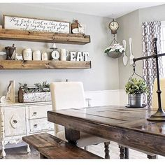 26 Costum Wood Sign Ideas For Dining Room