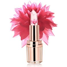 PrettyDiva Jelly Flower Lipstick Barbie Pink Mood Color C...