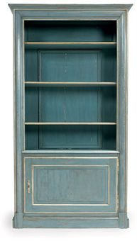 A FRENCH PAINTED BOOKCASE