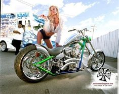 As a very simple guideline, don't forget to provide the chopper just enough throttle before you attempt to navigate it. Custom Choppers, Custom Motorcycles, Ridley Bikes, Motorcycle Paint Jobs, Harley Davidson Knucklehead, West Coast Choppers, Motorbike Girl, Chopper Motorcycle, Bikini Poses