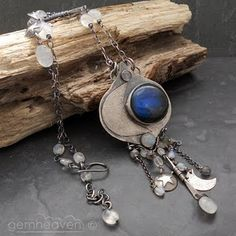 Stunning silverwork with labradorite and moonstone