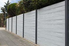 Fence Wall Design, Compound Wall, Precast Concrete, Concrete Walls, Graphic Design Trends, Betta, Door Handles, Sidewalk, New Homes