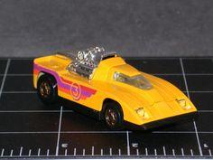Hot Wheels Cannonade 1980 Yellow 3 street hot rod Vintage die-cast gold wheels #HotWheels #RaceCarnumber3