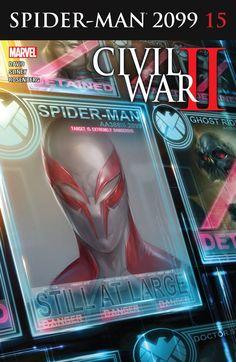 Spider-Man 2099 15 Cover Art Marvel Comics Poster - 30 x 46 cm Heros Comics, Marvel Comics Art, Marvel Heroes, Marvel 2099, Marvel Marvel, Spiderman Art, Amazing Spiderman, Spiderman Images, Marvel Comic Universe