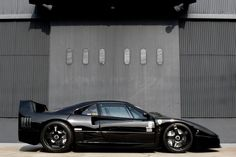 .All black F40 #Ferrari