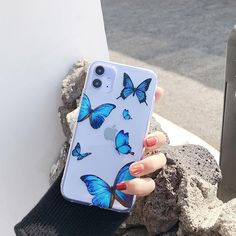 Transparent Blue Butterfly Cases - 1 - Big Butterfly / iPhone X