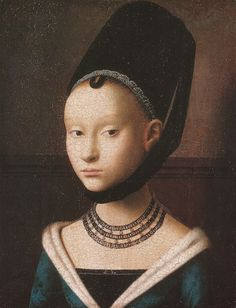 petrus christus - portrait of a young girl (circa 1470)