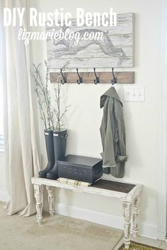 learn how to build a lovely little DIY rustic bench. So easy, anyone can make it!