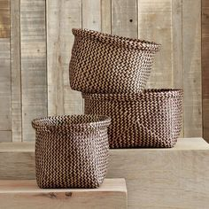 Cross Dye Baskets | west elm