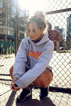 grey trasher hoodie