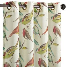 A bird in the hand may be worth two in the bush, but the watercolor birds on these sheer drapery panels trump all. Unlined and perfect for letting in filtered light, the grommet-topped panels gently drape for a highly sought-after look that's definitely worth watching.