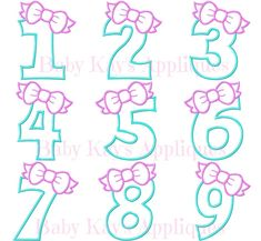 Letter And Number Stencils, Letters And Numbers, Embroidery Files, Machine Embroidery, Silhouette Fonts, Number Sets, Hobbies That Make Money, Birthday Numbers, Vinyl Projects